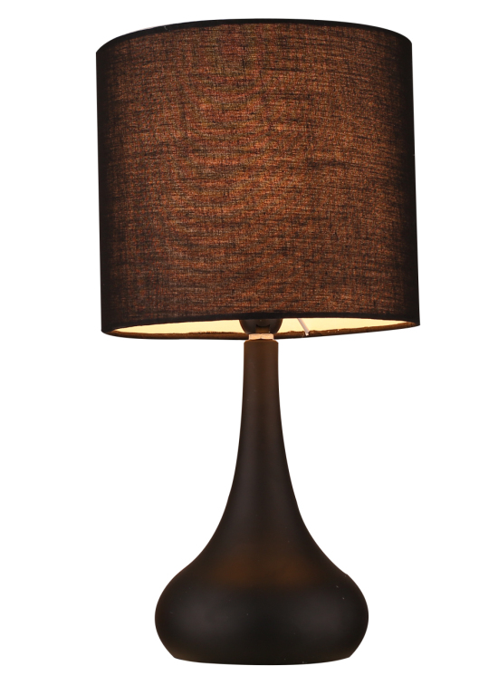 creative metal base touch table lamp with wooden painting