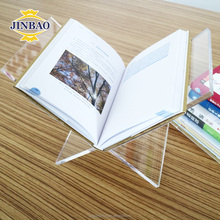 JINBAO Custom Holder Clear Acrylic Open Book Stand for Display