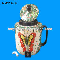 Cartoon butterfly pattern Ceramic Water Container