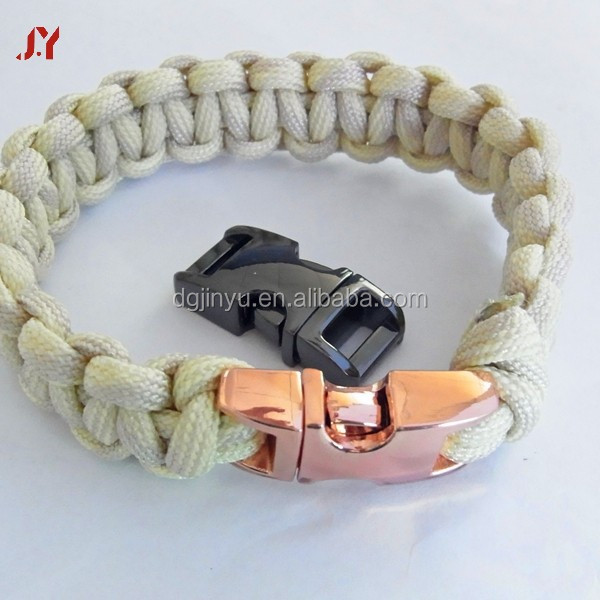 various sizes paracord buckle hardware/metal paracord clasp/easy release buckle for dog collar