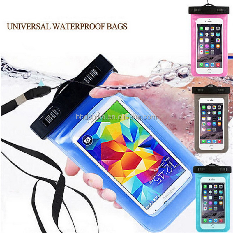 Christmas gift Waterproof Pouch Mobile Phone Bags Underwater Dry Case Cover For iphone print logo