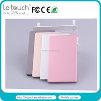 Hot sale 2400mah slim credit card usb power bank for mobile phone