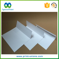 Blank white nice paper gummed closure photo packaging envelopes