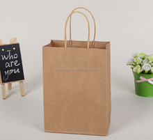 Newest Kraft paper bag lovely smart with handle for shopping