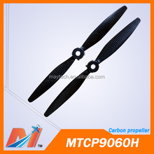 Maytech Yuneec TYPHOONE H 3pair/lot 9 inch carbon propeller with 8mm center hole and installation parts