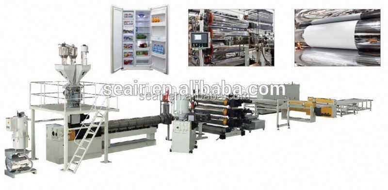 sheet machine ABS/PS/HIPS&PMMA Refrigerator sheet Machine, plastic sheet extrusion machine, plastic plate making machine