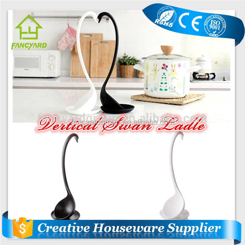 FY5139 Amazon hot sale kitchen accessories plastic swan shape ladle