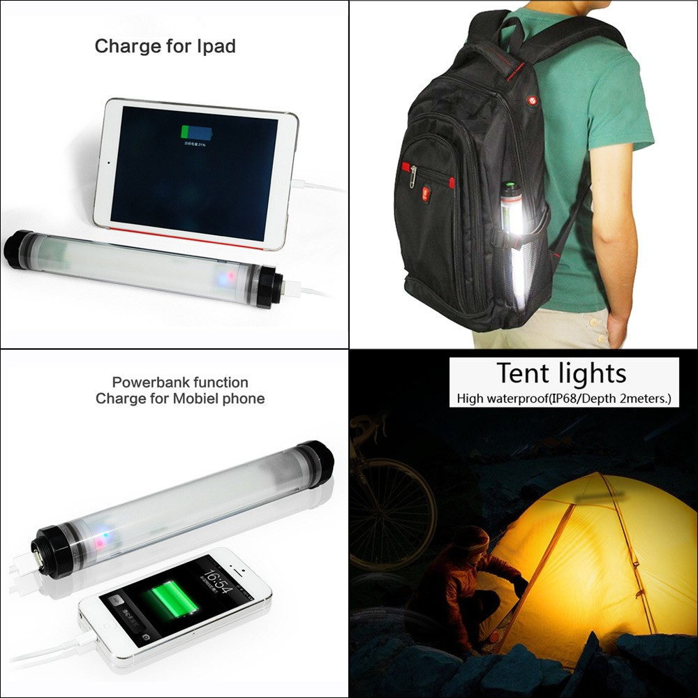 UY Q7 Water proof Handheld Rechargeable LED Lamp Light Stick for Sailing Boat