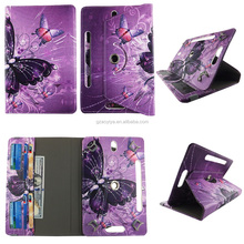 Dreamlike Butterfly HD Design Universal 360 Rotary PU Leather Folio Stand Shockproof Flip Tablet Case