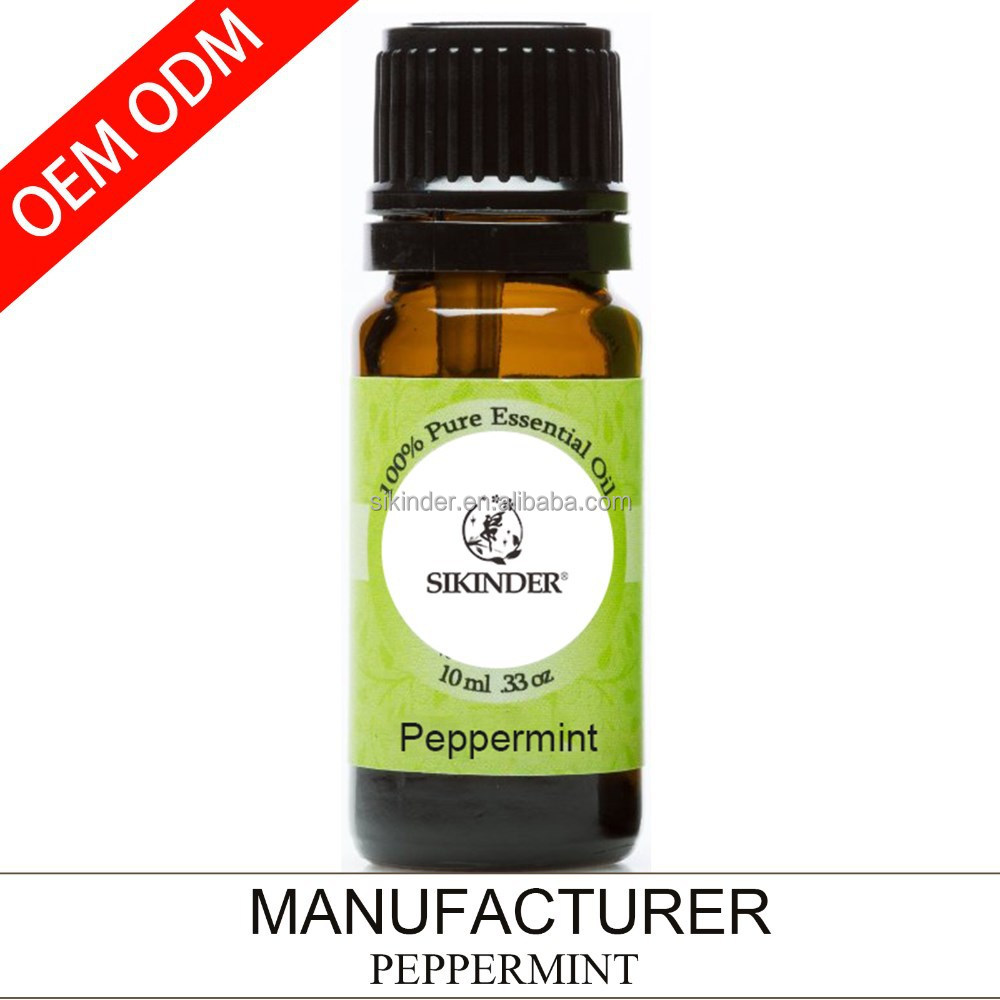 OEM/ODM peppermint essential oil, 100% pure and natural 10ML supply private label