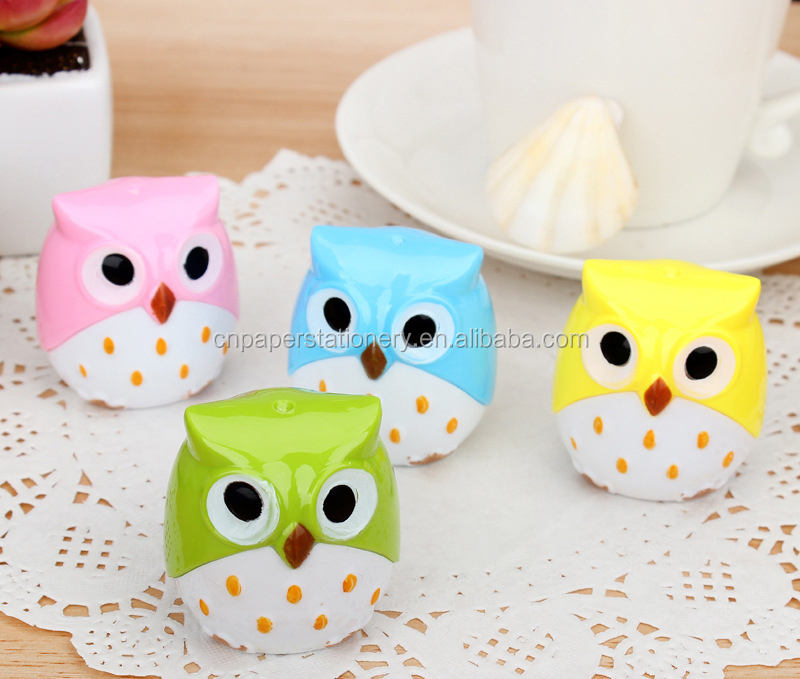 Hot sale new arrival stationery plastic mechanical owl shape pencil sharpener