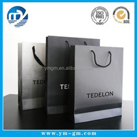 Black color kraft paper bag for jewelry packaging