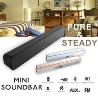 2015 new design wireless 2 channel bt sound bar for tv,PC,mobile phones