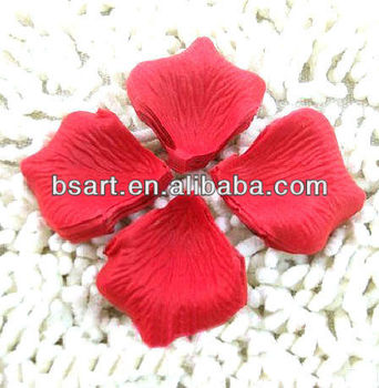 Artificial silk rose petal for wedding decoration