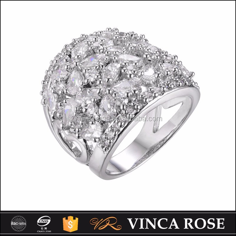Pure silver Cylindrical ring pattern 5925 silver ring diamond wholesale