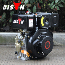 BISON(CHINA) BS186F Small Diesel Lawn Mower Engine Horizontal Shaft Air-cooled Diesel Engine 10HP