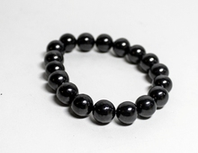 "Shungite Bracelet ""The Night"" with elastic band Natural Stone Jewelry"