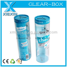 underwear clear packaging pvc cylinder box,custom design cylinder for underwear