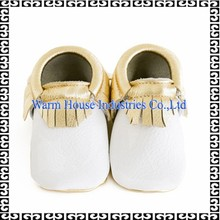 2015 Baby Tassel Soft Sole Leather Shoes Infant Toddler Moccasin(0-24moths)