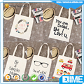 Top quality customized logo tote promotional cotton tote canvas bag