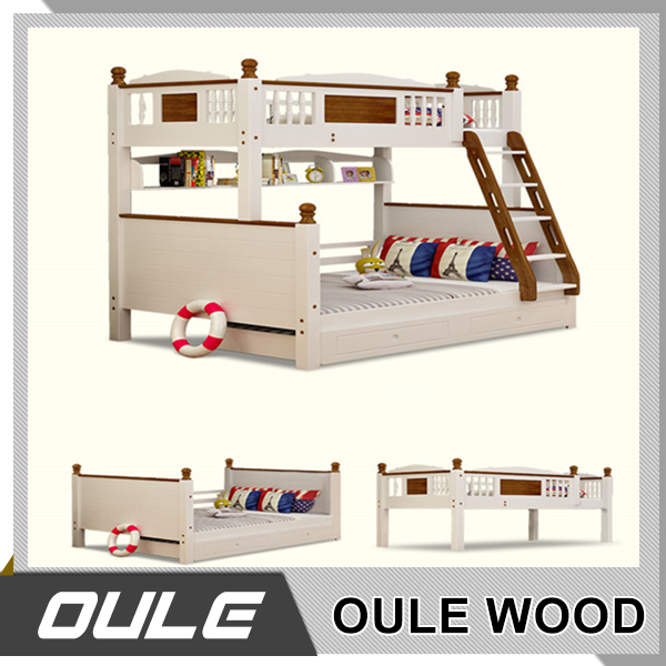 Wood double bed designs solid wood bunk bed kids bunk bed