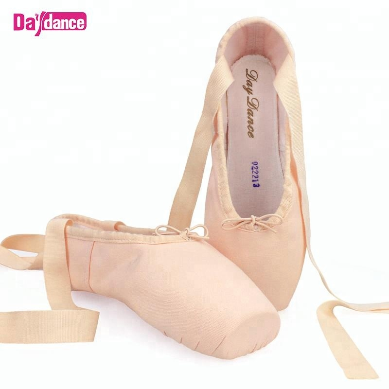Girls Women Canvas Cotton Ballet Pointe Shoes