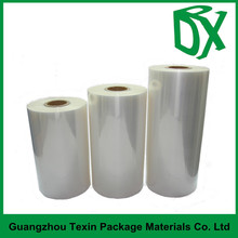 Manufacturer customized width Clear/Blue soft pvc heat shrink roll film in a roll