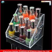 Factory directly selling 3 tier clear acrylic nail polish display rack, acrylic nail polish display