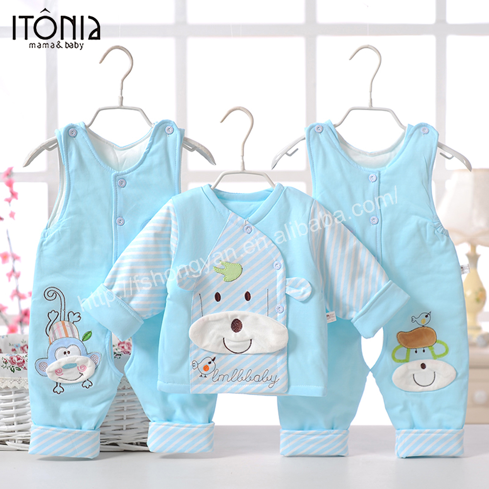 New arrival custom design bulk wholesale korean baby winter club clothes