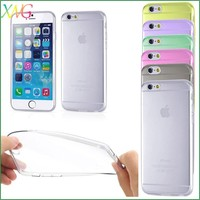 Candy Color Soft TPU Silicone Skin Back Case Cover 5.5 inch mobile phone case for Iphone 6 plus