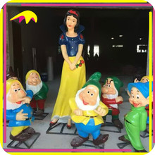 KANO7494 Exhibit Popular Life Size Animated Snow White Garden Statue