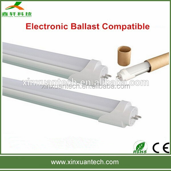 CE RoHS approved 1200mm 20W T8 led tube compatible with high frequency electronic ballast