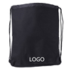 Wholesale Durable Fashionable Black String Drawstring Bags