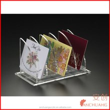 Acrylic Greeting Card and Letter Holder ( 5 Compartments )