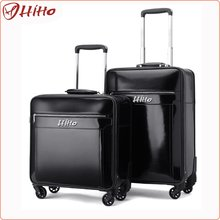Vintage Carry On Rolling Leather Luggage
