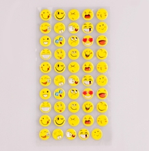Custom high quality 3d puffy expression self adhesive sticker emoji cartoon sticker for kids