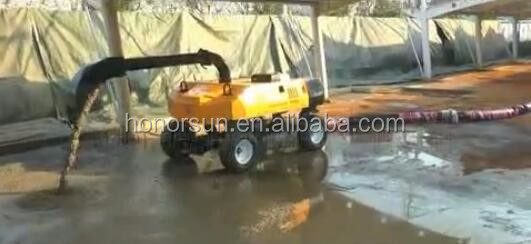 self-propelled small portable concrete pump distributor concrete pouring equipment
