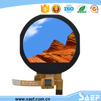 1.22 round shape touch screen with round display smart watch phone lcd manufacturer provide