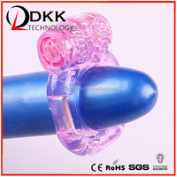 Factory wholesale ce rohs certificate bullet bear vibrating Cock Ring sex toy penis sleeves for men XF201