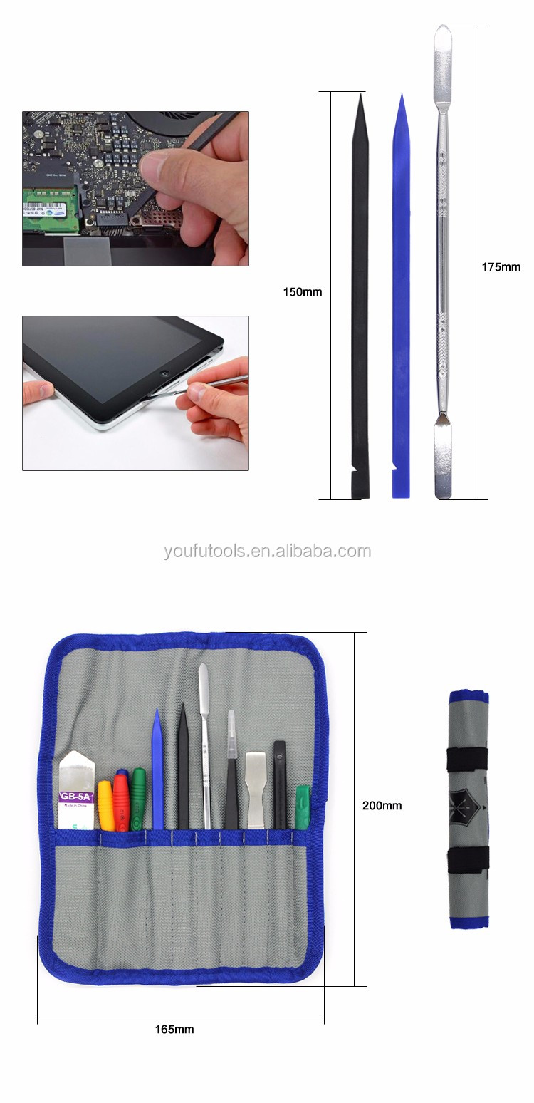 Mobile Repair Tools Bag with Opening Pry tools and Screwdriver set for Iphone 4/4S Case