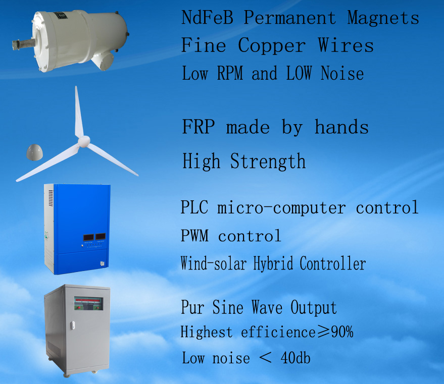 Promotion price Low start wind speed low RPM 10KW Wind Turbines generator