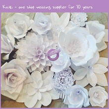 k7146 diy Handmade Wholesale 3d paper flower wall stage decoration