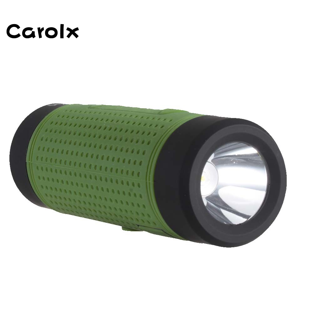 Carolx- Waterproof Fashion Sound Bar Portable DIY Wireless Outdoor <strong>Speaker</strong> with Torch Light for Riding and Camping