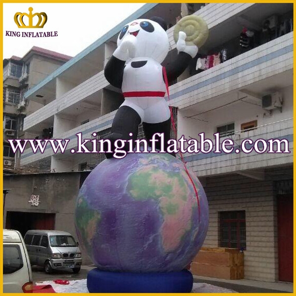 2015 Promotional Cute Inflatable Panda And Inflatable Earth For Advertising
