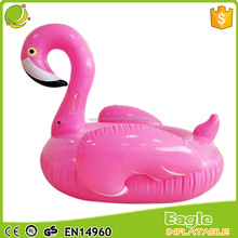 2017 Giant Women's Inflatable Flamingo pool float eco-friendly pvc animal lounger