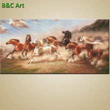 Large size abstract horse canvas art printing for office wall decor