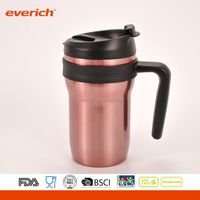 Eco-friendly Stainless Steel 16oz Coffee Thermos Travel Mug With Handle