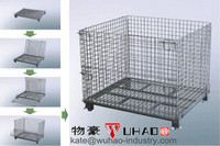 Collapsible stackable rigid steel wire mesh metal storage cage quail cages