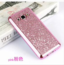 Diamond bling combo TPU silicon phone cases back cover for Sony xperia c5