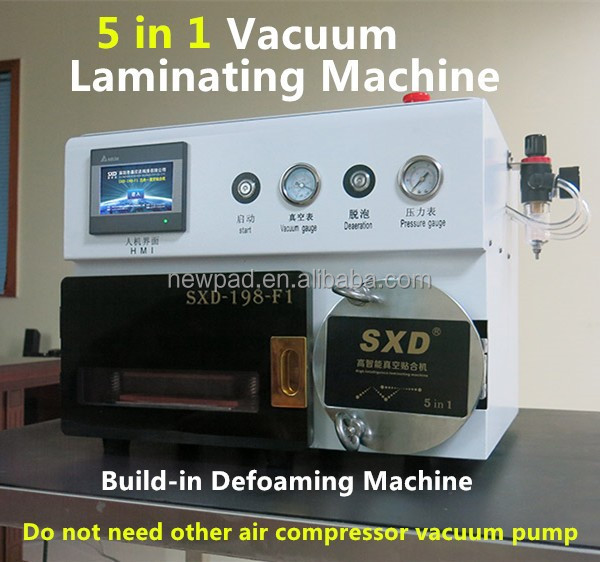 5 in 1 OCA Laminating & Bubble removing machine Laminating cracked mobile phone LCD repair